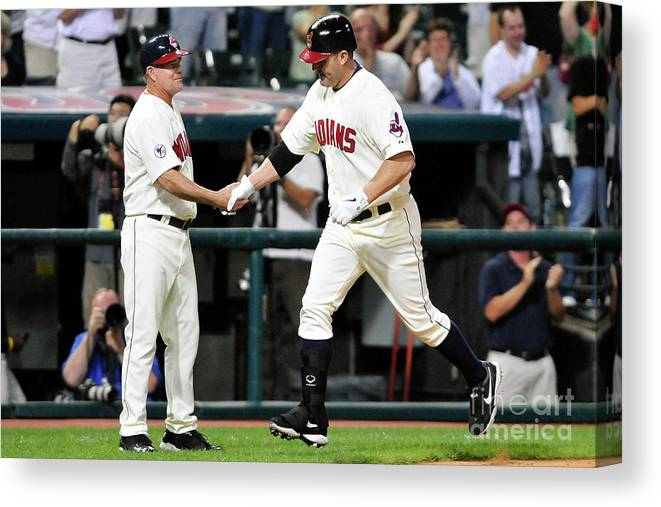 People Canvas Print featuring the photograph Jim Thome by Jason Miller
