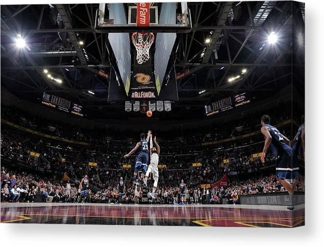 Nba Pro Basketball Canvas Print featuring the photograph Jimmy Butler and Lebron James by David Liam Kyle