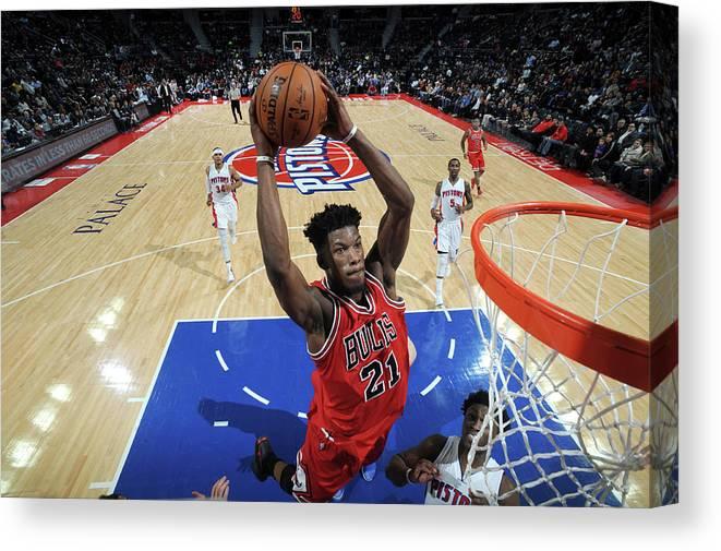 Nba Pro Basketball Canvas Print featuring the photograph Jimmy Butler by Chris Schwegler