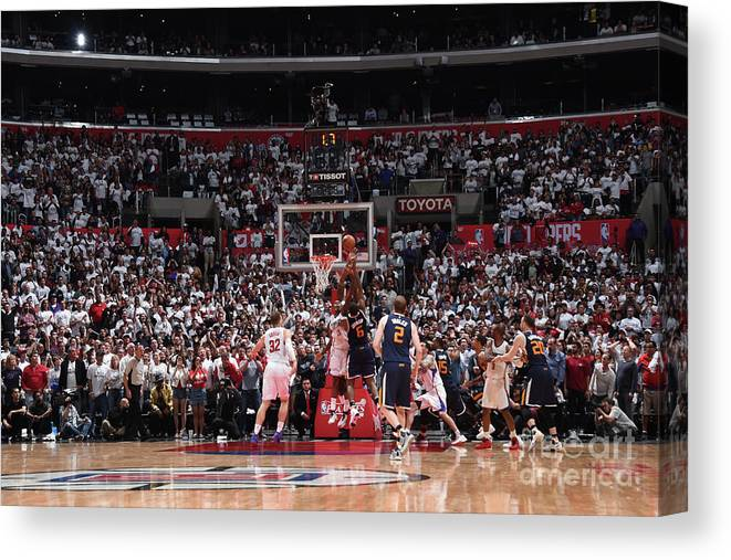 Playoffs Canvas Print featuring the photograph Joe Johnson by Andrew D. Bernstein