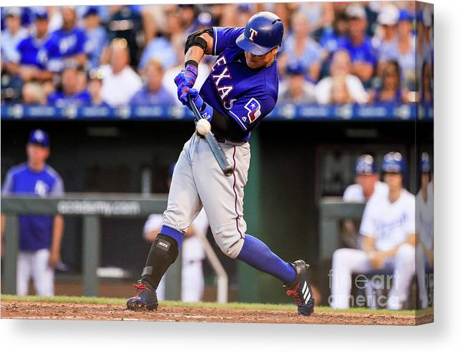 Ninth Inning Canvas Print featuring the photograph Joey Gallo and Shin-soo Choo by Brian Davidson