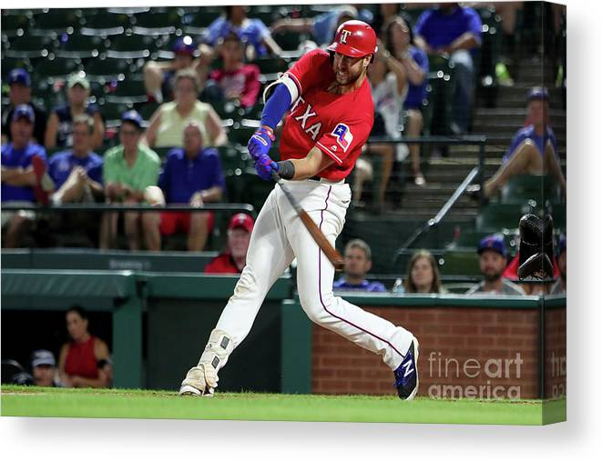 People Canvas Print featuring the photograph Joey Gallo by Tom Pennington