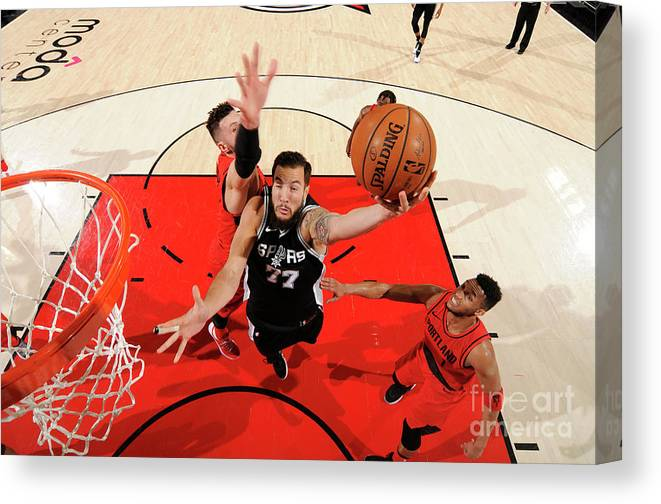 Nba Pro Basketball Canvas Print featuring the photograph Joffrey Lauvergne by Cameron Browne