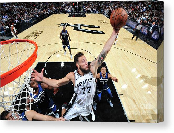 Nba Pro Basketball Canvas Print featuring the photograph Joffrey Lauvergne by Mark Sobhani