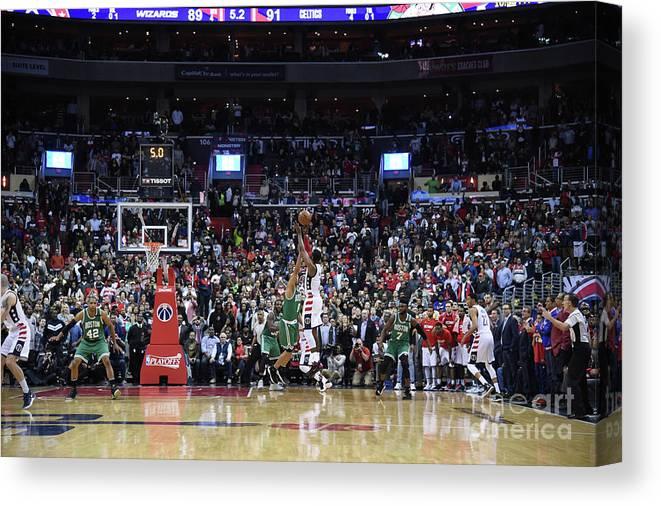 Playoffs Canvas Print featuring the photograph John Wall by Brian Babineau