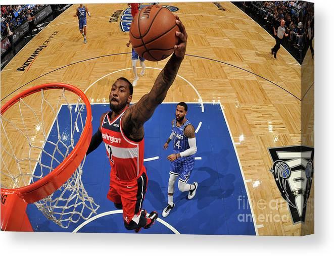 Nba Pro Basketball Canvas Print featuring the photograph John Wall by Fernando Medina