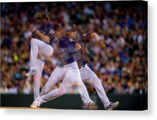 People Canvas Print featuring the photograph Jon Gray by Dustin Bradford