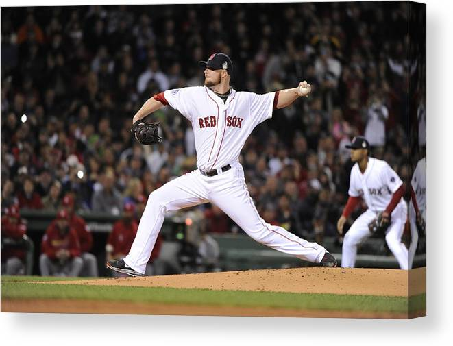 Playoffs Canvas Print featuring the photograph Jon Lester by Ron Vesely