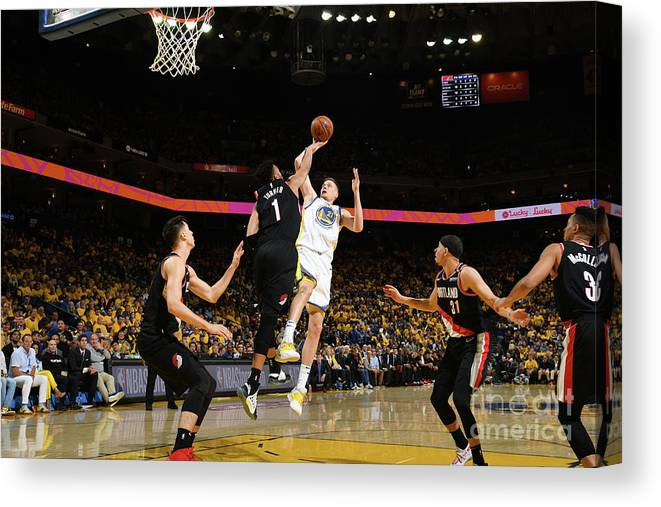 Playoffs Canvas Print featuring the photograph Jonas Jerebko by Noah Graham