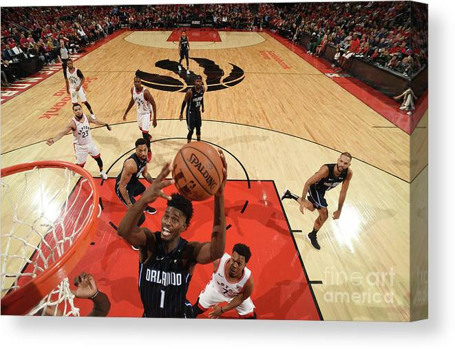 Playoffs Canvas Print featuring the photograph Jonathan Isaac by Ron Turenne