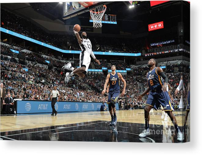 Nba Pro Basketball Canvas Print featuring the photograph Jonathon Simmons by Mark Sobhani