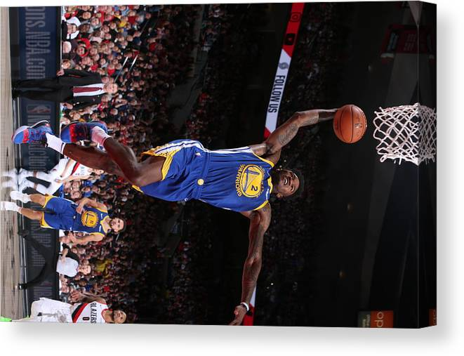 Playoffs Canvas Print featuring the photograph Jordan Bell by Sam Forencich