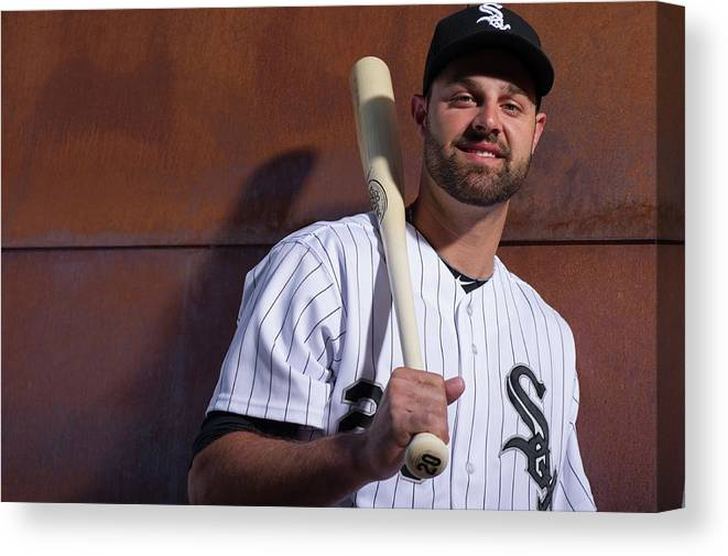 Media Day Canvas Print featuring the photograph Jordan Danks by Rob Tringali