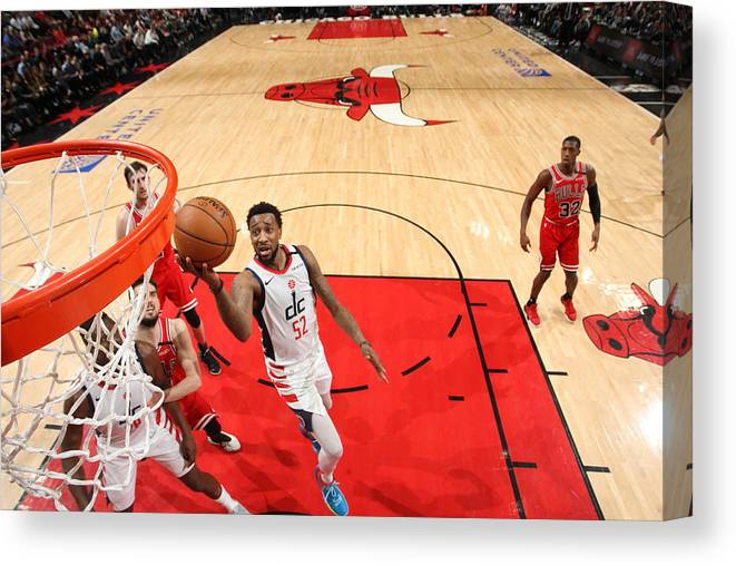 Nba Pro Basketball Canvas Print featuring the photograph Jordan Mcrae by Gary Dineen