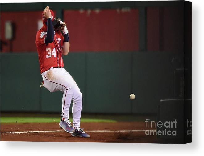 People Canvas Print featuring the photograph Jose Reyes and Bryce Harper by Patrick Mcdermott