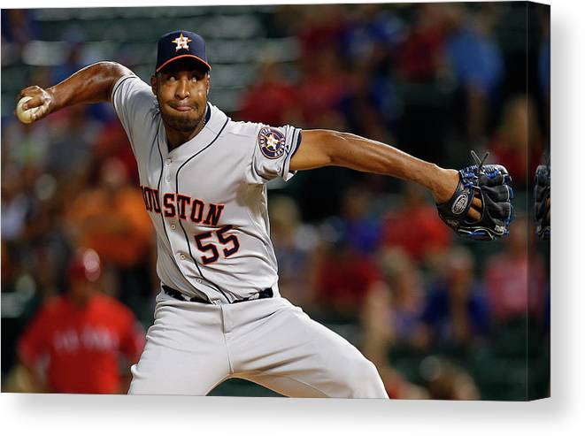 Ninth Inning Canvas Print featuring the photograph Jose Veras by Tom Pennington