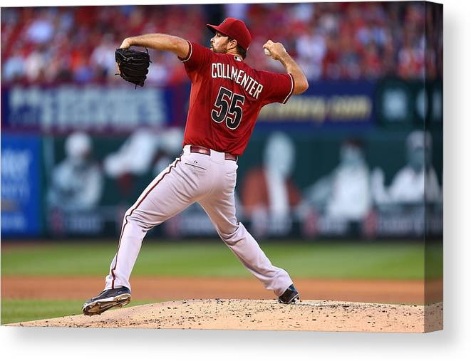 People Canvas Print featuring the photograph Josh Collmenter by Dilip Vishwanat