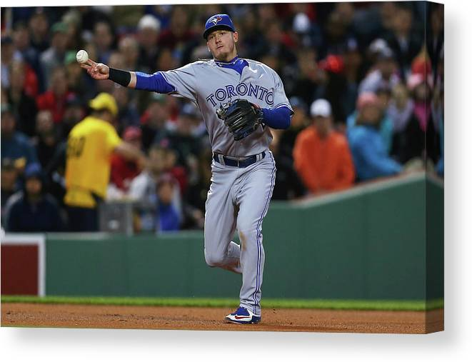 American League Baseball Canvas Print featuring the photograph Josh Donaldson by Maddie Meyer