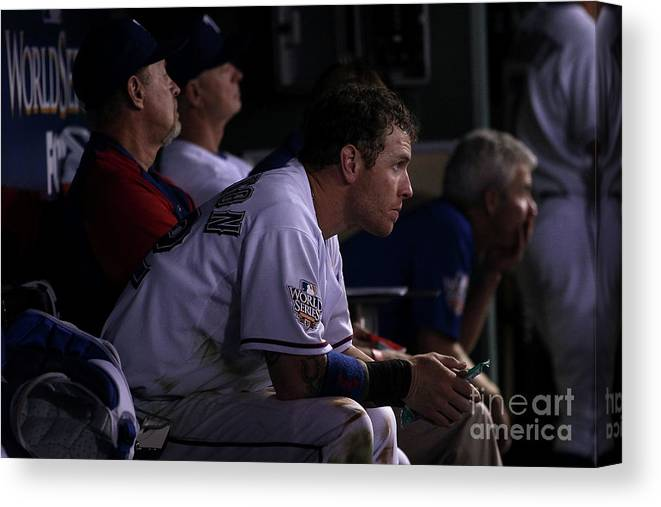 American League Baseball Canvas Print featuring the photograph Josh Hamilton by Christian Petersen