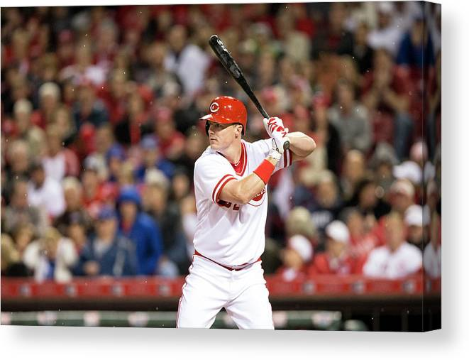 Great American Ball Park Canvas Print featuring the photograph Josh Harrison and Jay Bruce by Taylor Baucom