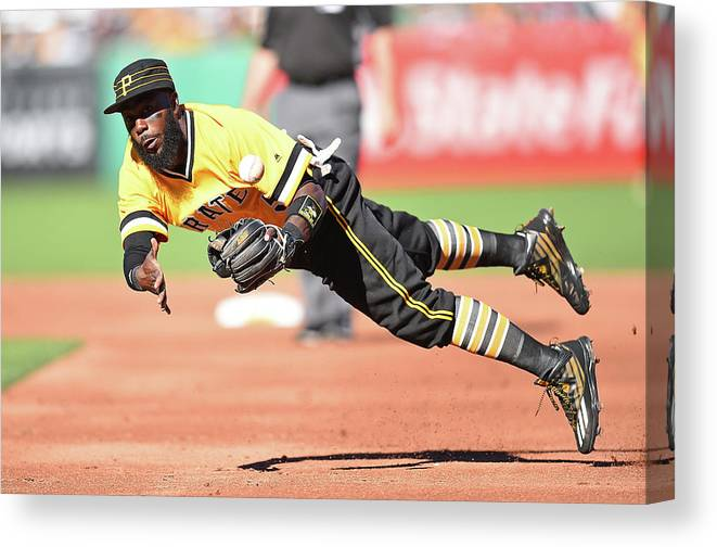 American League Baseball Canvas Print featuring the photograph Josh Harrison by Joe Sargent