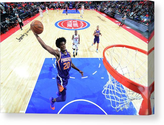 Nba Pro Basketball Canvas Print featuring the photograph Josh Jackson by Chris Schwegler