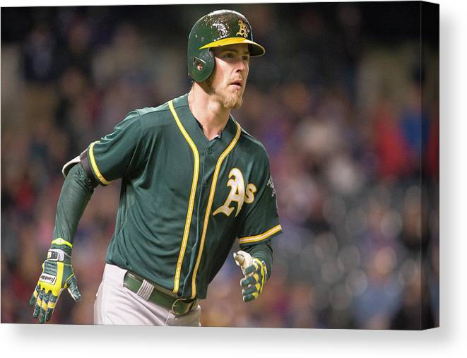 American League Baseball Canvas Print featuring the photograph Josh Reddick by Jason Miller