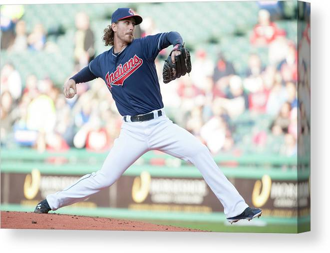Second Inning Canvas Print featuring the photograph Josh Tomlin by Jason Miller
