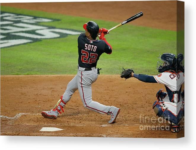 American League Baseball Canvas Print featuring the photograph Juan Soto by Bob Levey
