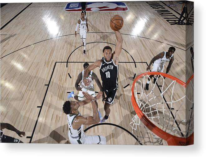 Nba Pro Basketball Canvas Print featuring the photograph Justin Anderson by David Dow