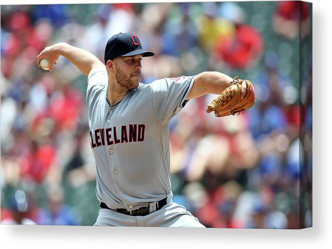 Second Inning Canvas Print featuring the photograph Justin Masterson by Rick Yeatts