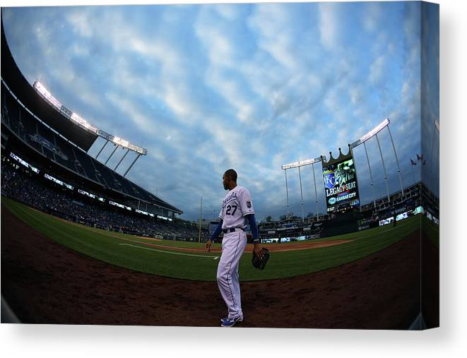 Second Inning Canvas Print featuring the photograph Justin Maxwell by Ed Zurga