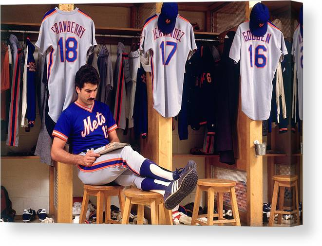 1980-1989 Canvas Print featuring the photograph Keith Hernandez by Ronald C. Modra/sports Imagery