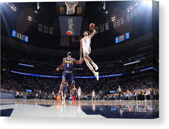 Nba Pro Basketball Canvas Print featuring the photograph Kelly Oubre by Bart Young