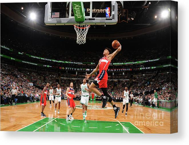 Nba Pro Basketball Canvas Print featuring the photograph Kelly Oubre by Brian Babineau