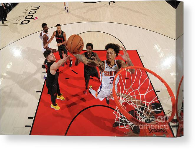 Nba Pro Basketball Canvas Print featuring the photograph Kelly Oubre by Cameron Browne