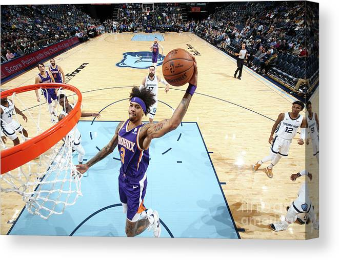 Nba Pro Basketball Canvas Print featuring the photograph Kelly Oubre by Joe Murphy