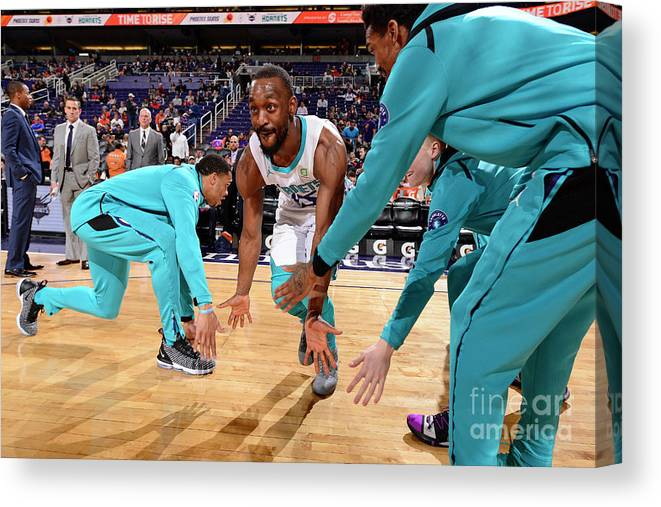 Kemba Walker Canvas Print featuring the photograph Kemba Walker by Barry Gossage