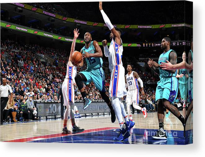 Kemba Walker Canvas Print featuring the photograph Kemba Walker by Jesse D. Garrabrant