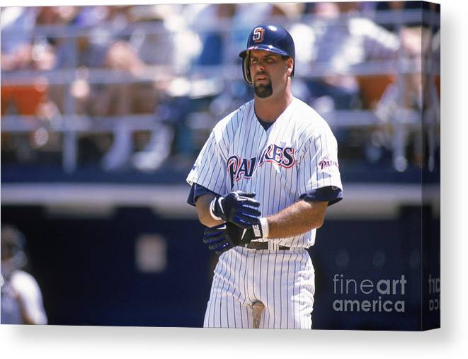 Adjusting Canvas Print featuring the photograph Ken Caminiti by Otto Greule Jr