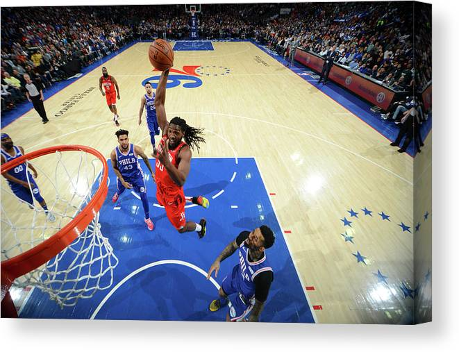 Nba Pro Basketball Canvas Print featuring the photograph Kenneth Faried by Jesse D. Garrabrant