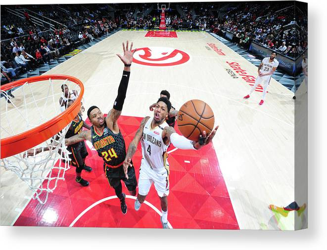 Atlanta Canvas Print featuring the photograph Kent Bazemore and Elfrid Payton by Scott Cunningham