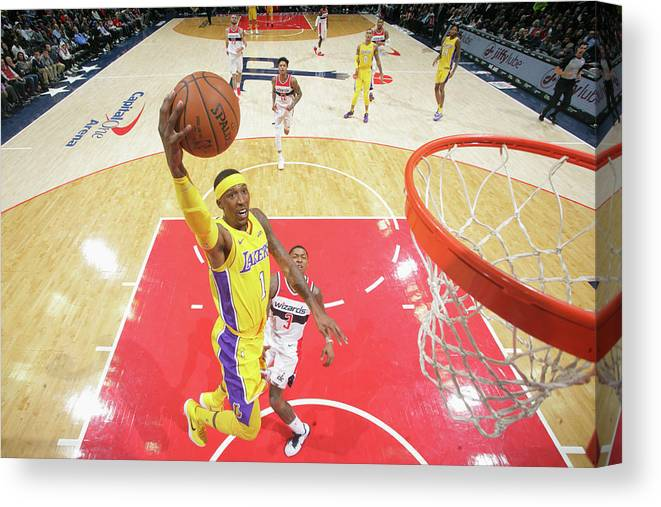 Nba Pro Basketball Canvas Print featuring the photograph Kentavious Caldwell-pope by Ned Dishman