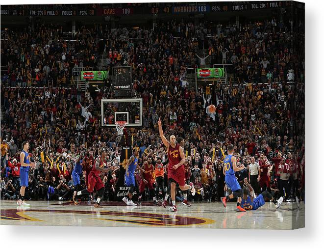 Nba Pro Basketball Canvas Print featuring the photograph Kevin Durant and Richard Jefferson by David Sherman