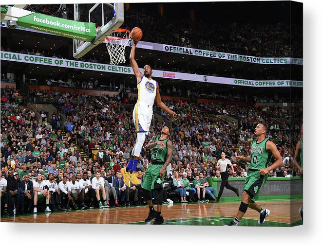 Nba Pro Basketball Canvas Print featuring the photograph Kevin Durant by Brian Babineau