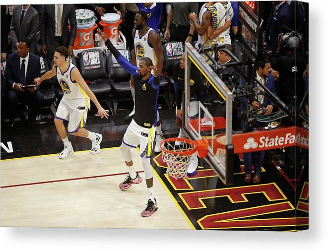 Playoffs Canvas Print featuring the photograph Kevin Durant by Mark Blinch