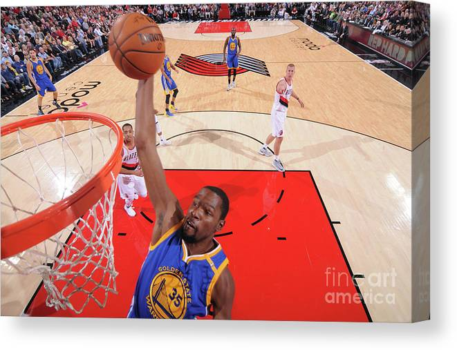 Nba Pro Basketball Canvas Print featuring the photograph Kevin Durant by Sam Forencich