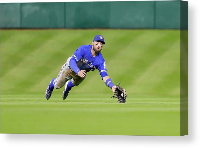 People Canvas Print featuring the photograph Kevin Pillar by Bob Levey