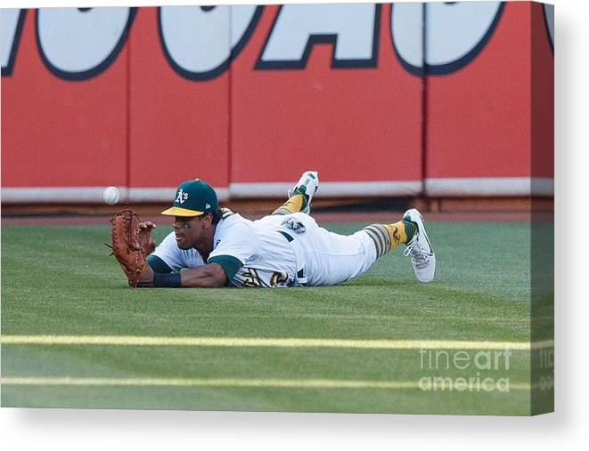 People Canvas Print featuring the photograph Khris Davis and George Springer by Jason O. Watson