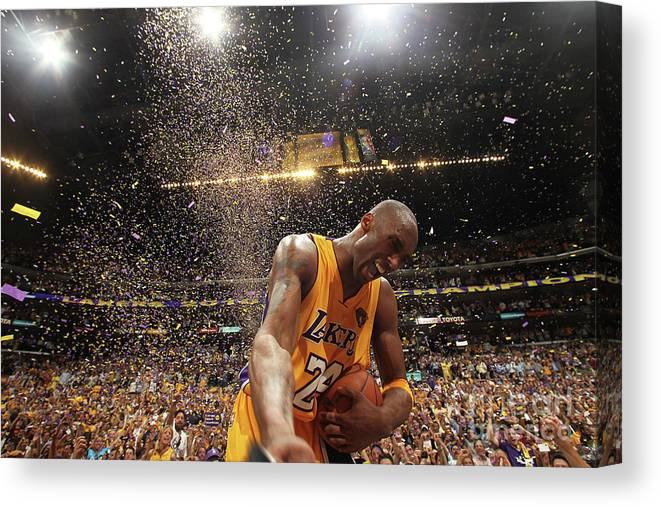 Playoffs Canvas Print featuring the photograph Kobe Bryant by Nathaniel S. Butler